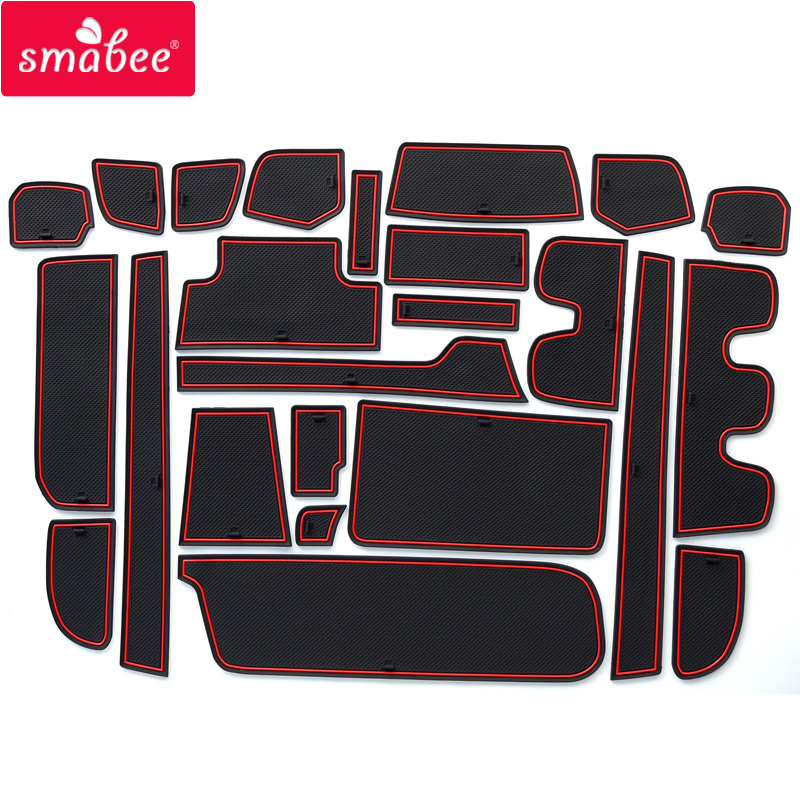for Honda Stepwgn 2015 - 2018 Non-slip Mats Rubber Cup Cushion Door Groove Mat 2016 2017 Accessories Car Styling Car Stickers for honda stepwgn 2015 2018 non slip mats rubber cup cushion door groove mat 2016 2017 accessories car styling car stickers