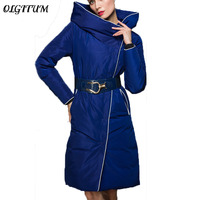 High Quality Fashion Designer 2016 Winter Luxury European Style Women S Long Jacket Down Parkas Super