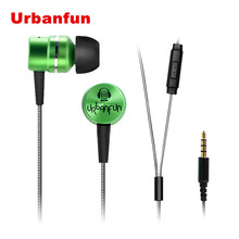 New URBANFUN Balanced Armature With Dynamic In-ear Earphone BA Driver Noise Cancelling In Ear Earphone