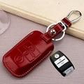 Fob moda leather car key holder caso para rio kia sportage 2014 proceder sorento cerato K2 K3 K5 K4 remoto inteligente accesorios