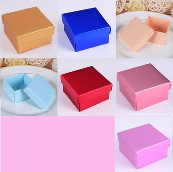 5 Colors Turquoise Wedding Candy Box Jewelry Gift Packing Boxes Favor Sweets Chocolates Box 100pcs\lot Free shipping