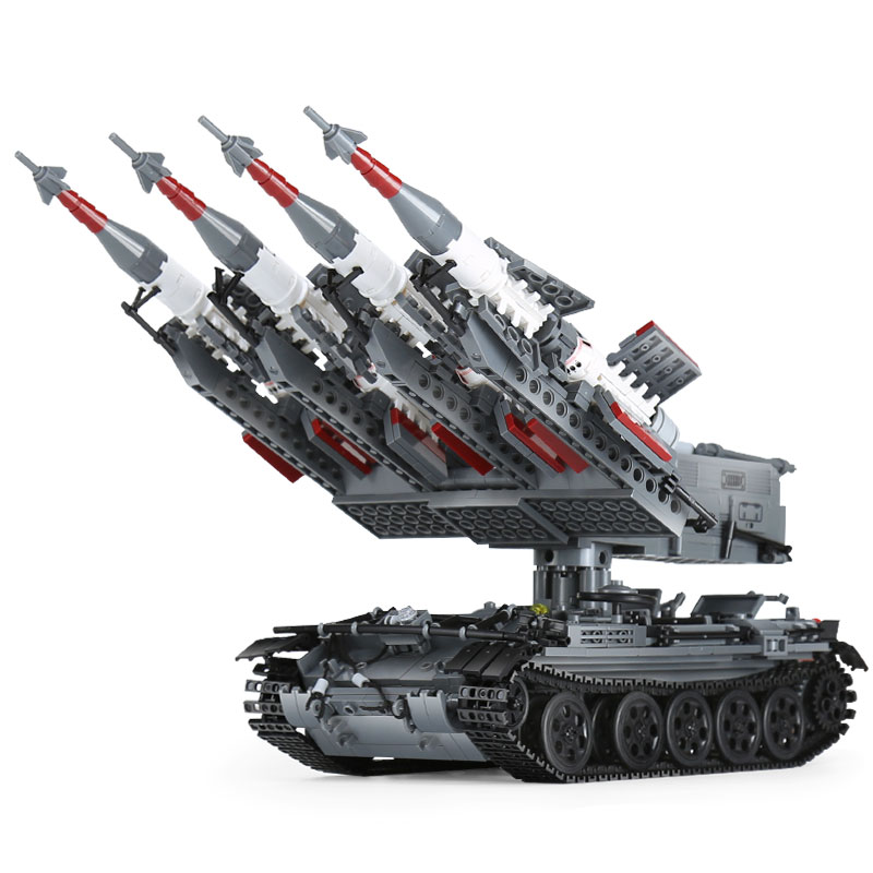 Xingbao 06004 Military Series The SA-3 missile and T55 Tank Set Children Toy Educational Building Blocks Bricks Toys 1753Pcs enlighten military series missile cruiser building blocks sets 843pcs educational construction bricks diy toys for children 821