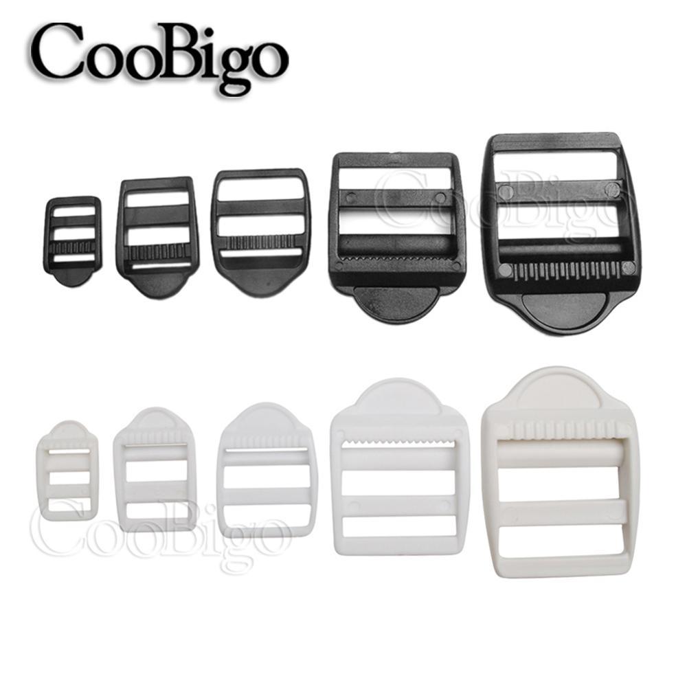 """10pcs Plastic Backpack Luggage Webbing Strap Ladder Slider Buckles Lock 1/"""""""