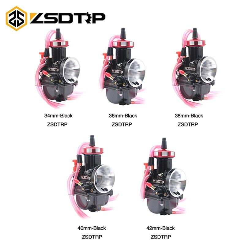 ZSDTRP PWK 34 36 38 40 42mm carburateur moto Air Striker pour vtt Buggy Quad Go Kart Dirt Bike Fit On 2 T 4 T JOG DIO