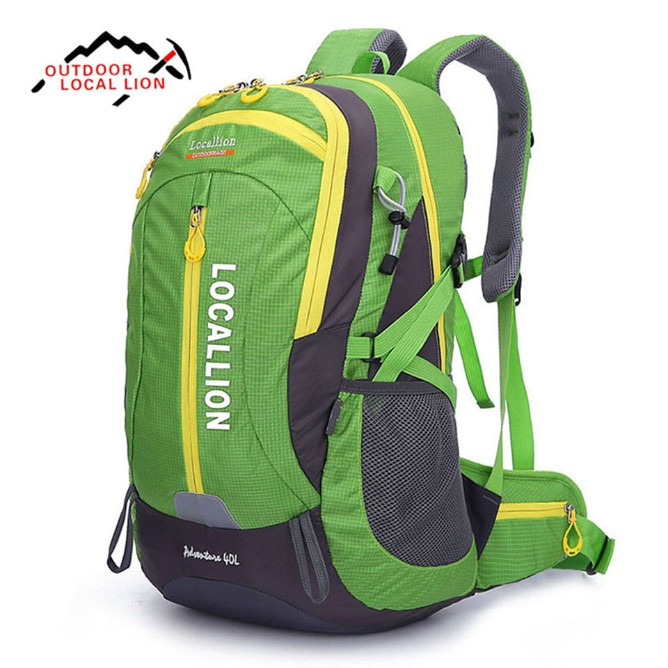 Outdoor Sport Bag LOCAL LION 40L Ultralight Waterproof Polyester Breathable Camping Hiking Climbing Mountaineering Backpack Bags outdoor sport bag local lion 5l camping backpack hiking riding climbing bags reflective multifunction bike cycling backpack