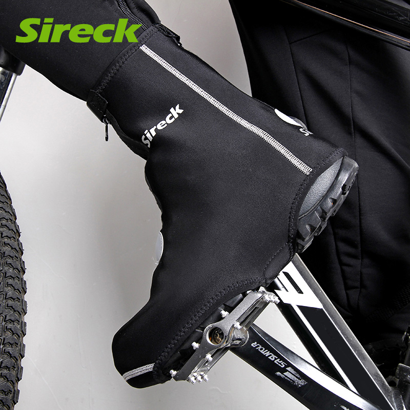Sireck Men/Women Winter Sport Mountain Bike Shoes Covers Bicycle Overshoes Winter Waterproof Windproof Bike Cycling Shoe Cover stylish rhinestones faux pearl lace flower shape embellished baseball cap for women