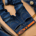 Autumn Winter Jeans Men Plus Size 40 Fake zipper Designer Cotton Stretch Denim Large Big Size Pants Trousers Brand Jean For Men