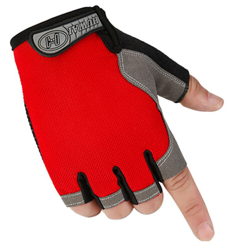 Outdoor Fitness Gloves: 1Pair Fitness Half Finger Cycling Gloves Outdoor