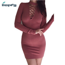 2018 New Fashion Women s Spring And Winter Knitted Sweater Dresses Ladies Long Sleeve Women Bodycon