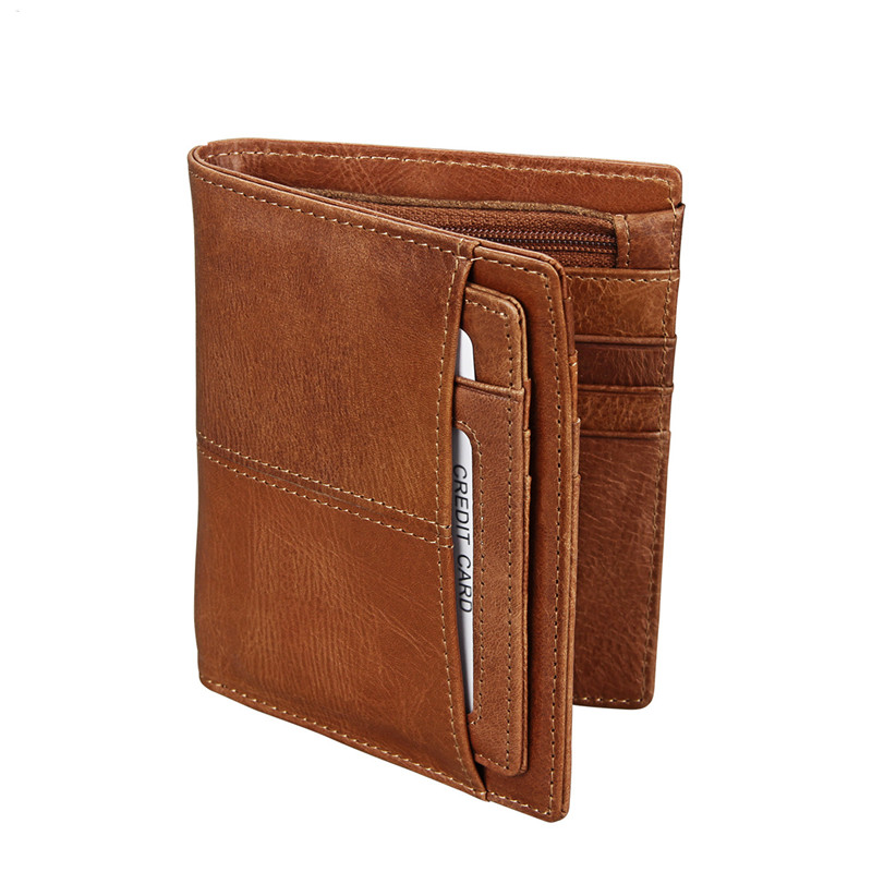 Genuine Men Wallets Leather Wallets Oil Wax Cow Leather Short Wallet Small Vintage Wallet Brand High Quality Designer italian style fashion men s jeans shorts high quality vintage retro designer classical short ripped jeans brand denim shorts men