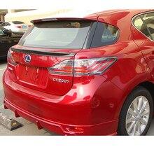 Для Lexus CT200H 2012 2013 украшение автомобиля PU материал Неокрашенный праймер задний спойлер багажника