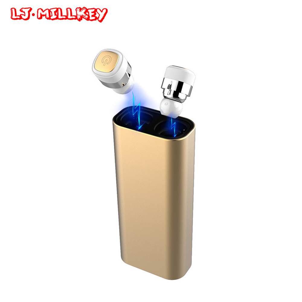 TWS earbuds mini wireless Earphones bluetooth earphone earbuds built in microphone with charging dock for phone LJ-MILLKEY YZ128 reamx rb t11c earphone mini magnetic dock bluetooth v4 0 earphone dual usb car charger fast charging support iso android phone