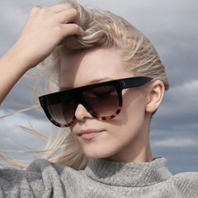 New Square Sunglasses Women Brand Designer 2018 Oversized Vintage Female Sunglasses Fashion Shades UV400