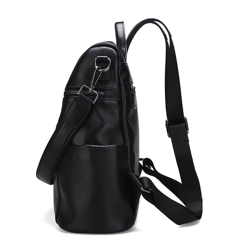 Aodux 100% Genuine Real Cow Leather Women Designer Travel Backpack Bags First Layer Cowhide Girl Female Silver White Rucksack
