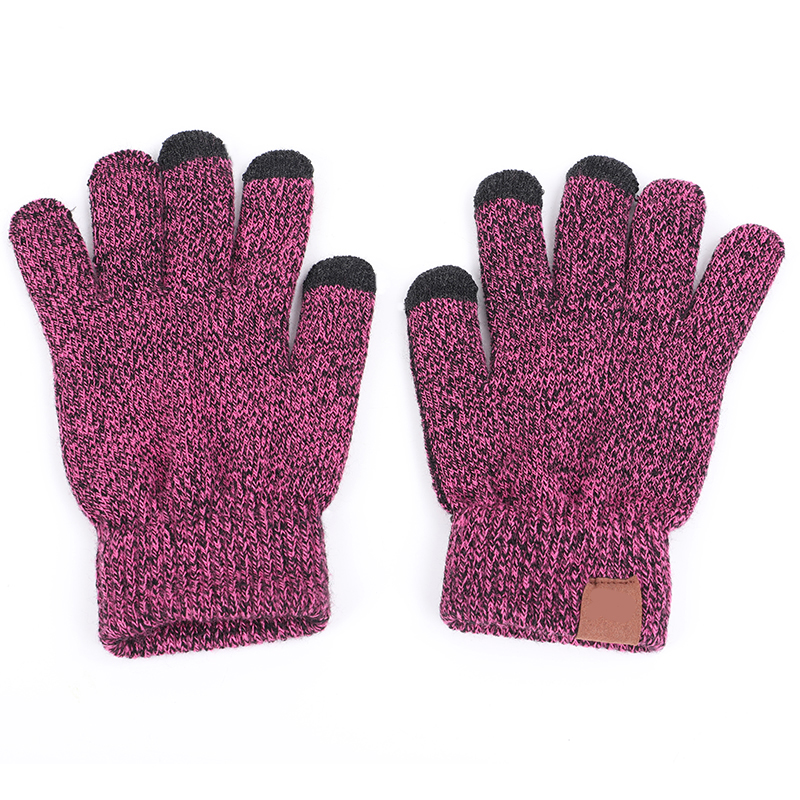 2019 6 Colors Brand Knit Gloves Man Woman Warm Mittens Plus Velvet Thicken Gloves For Touch Screens Wool Cashmere Unisex