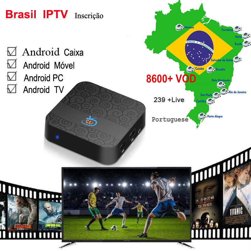 One Year Brazil Portuguese IPTV Subscription Include With Brazil VOD +PLAYBACK +LIVE For Android Tv Box / Mobile And Tv