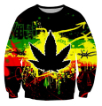 Women/men Harajuku Dark Psychedelic WEED LEAF 3D Print Sweatshirt Hoody Autumn Pullover Streetwear Drop Ship