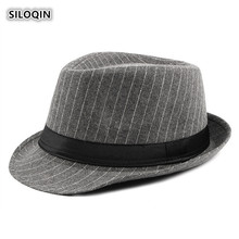 SILOQIN Men Autumn And Winter New Style Leisure Fedoras Hats British Middle-aged Tourism Prom Gentleman Hat Casquette