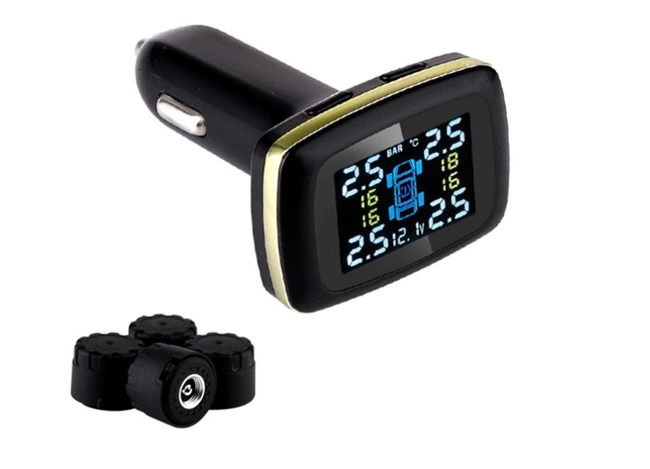 Prix pour Profession Auto Universal Wireless TPMS Capteur de Pression des Pneus Système de Surveillance de Pression Des Pneus avec USB prise spectacle température