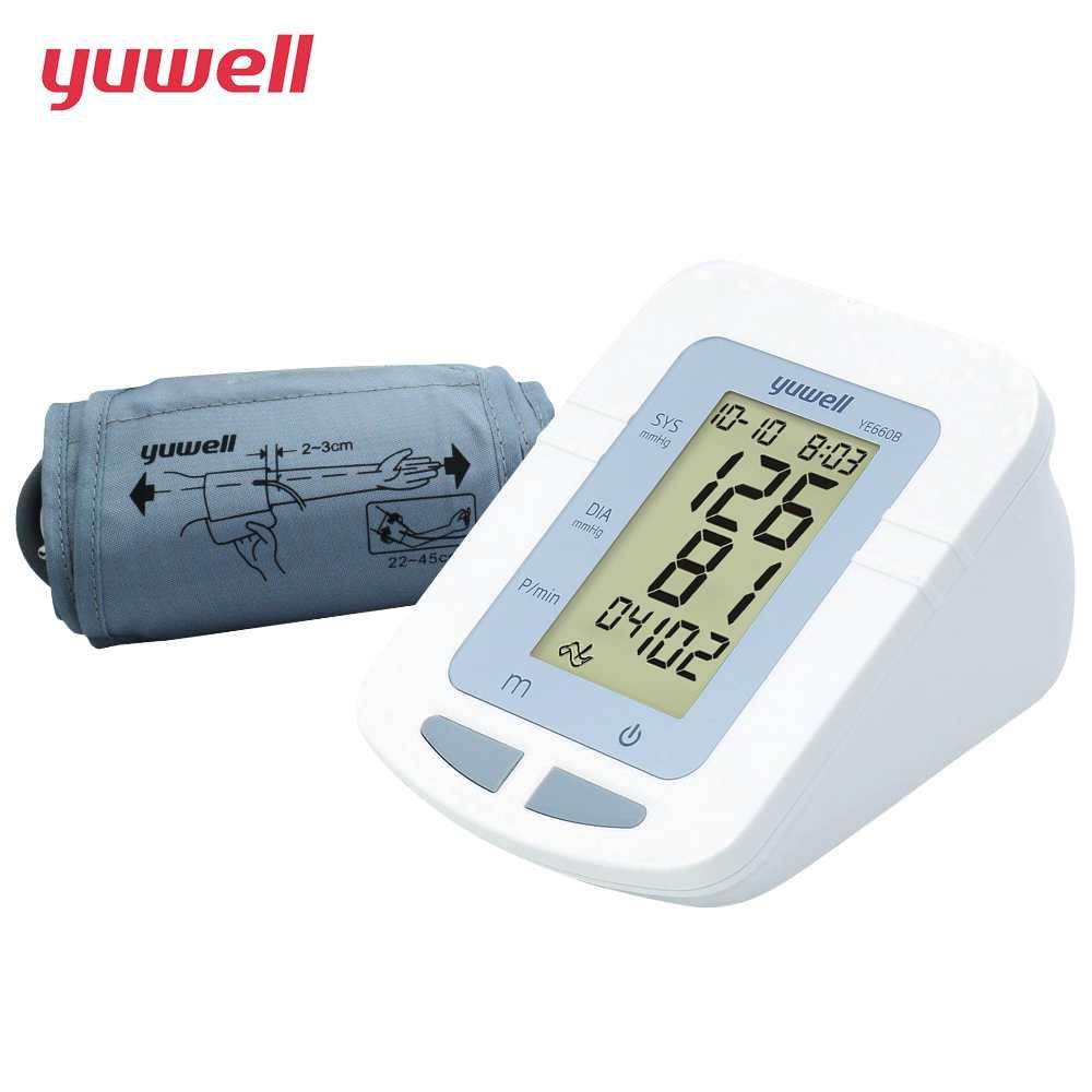 YUWELL Upper Arm Blood Pressure Monitor Heartbeat test Health care monitor Portable Digital Large Cuff Tonometer 660B CE E