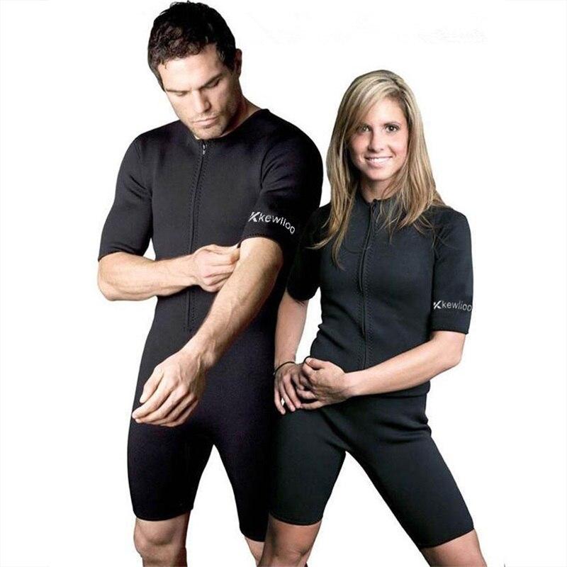 Neoprene men bodysuit Slimming Sports Wear for Women/Men Gym Excercise and Fitness Clothes Running Body Shaper Weight Loss