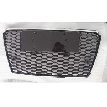 A7 RS7 نمط كروم الإطار الأسود 4 حلقة حارس المصد الأمامي شبكة الشواية لأودي a7 RS7 s7 2012-2015