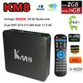 KM8 Amlogic S905X Android 6.0 TV Box 2GB 16GB Support 2.4Ghz &5Ghz Dual WiFi BT4.0 H.265Kodi 17.0 preinstalled 4K Media player