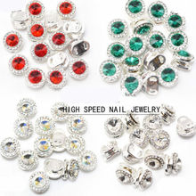 Japanese Styles 360 Rotate High Speed Nail Jewelry Red Green Colorful White 8 Kinds nail art charms decoration stone