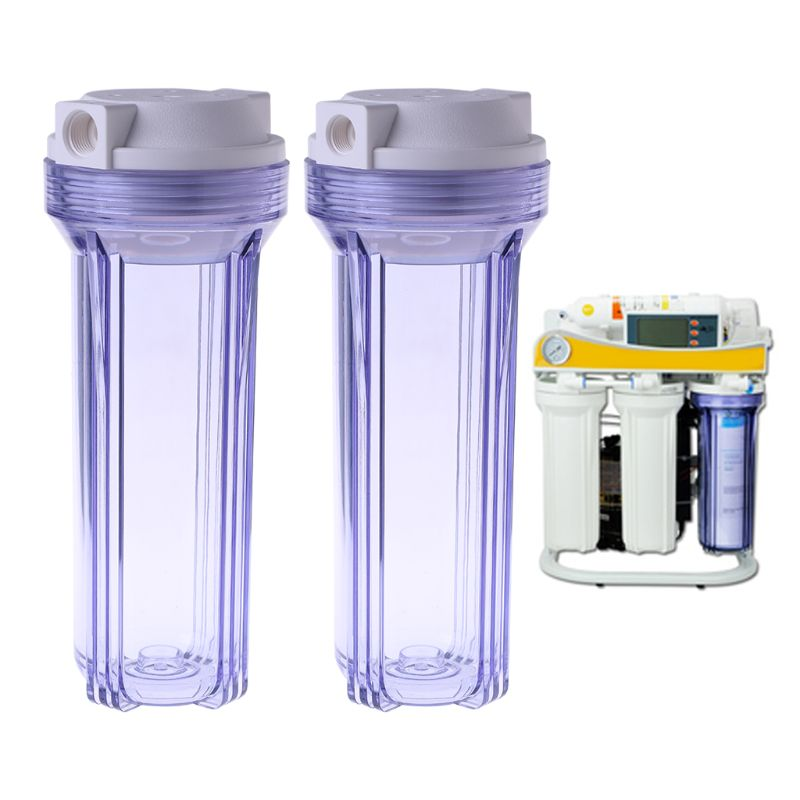 Water Treatment Appliance Parts Water Filter Parts Provided Transparent Water Purifier Filter Bottle 4/2 Point Interface Clear Filtration Drip-Dry