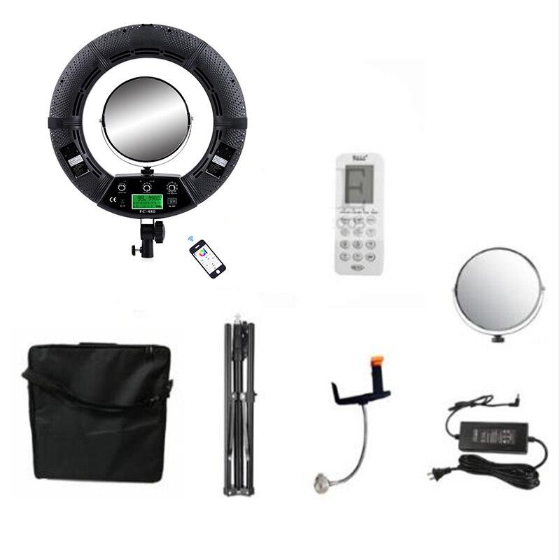 Yidoblo FC-480 ajuster la mode RGB LED anneau lumière 480 LED vidéo maquillage lampe photographie Studio diffusion lumière + 2 M stand + sac