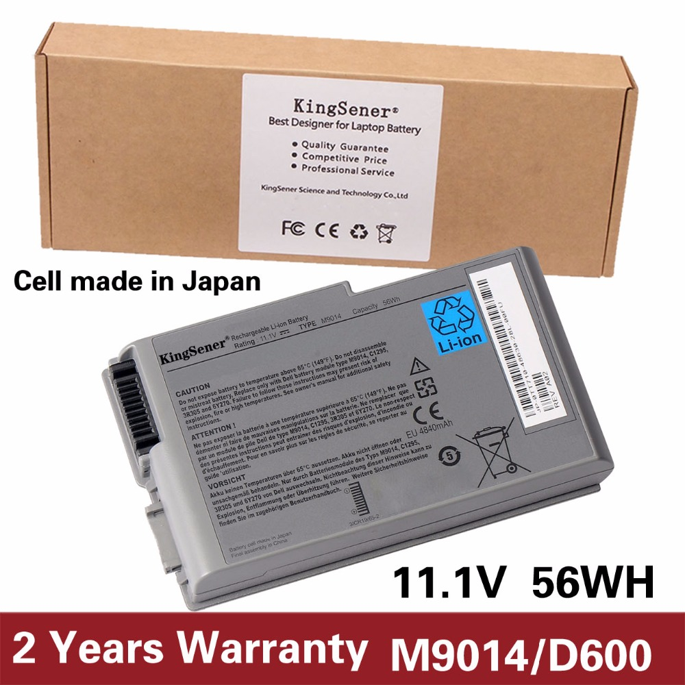 Japanese Cell KingSener New M9014 Battery For Dell Latitude D500 D505 D510 D520 D530 D600 D610 for DELL Inspiron 500m 510m 600m 11 1v 97wh korea cell new m5y0x laptop battery for dell latitude e6420 e6520 e5420 e5520 e6430 71r31 nhxvw t54fj 9cell