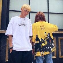 Летняя футболка с короткими рукавами в японском стиле с аниме, Повседневная футболка с круглым воротником в стиле Наруто, хип-хоп