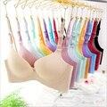 Hot new uma peça sutiã Sem Costura V profundo sexy reunir texto Suave 3/4 de xícara de sutiã confortável, roupa interior respirável variedade de cores