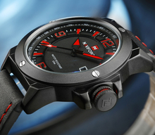 NAVIFORCE Mens Watch Sport Clock Top Luxury Brand Leather Quartz Wristwatch Fashion Casual Analog Man Watches
