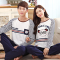 2015 Autumn Long-sleeve Cartoon Women Home Clothing Couples Matching Pajamas plus size Pyjamas Bear kigurumi Lovers sleepwear