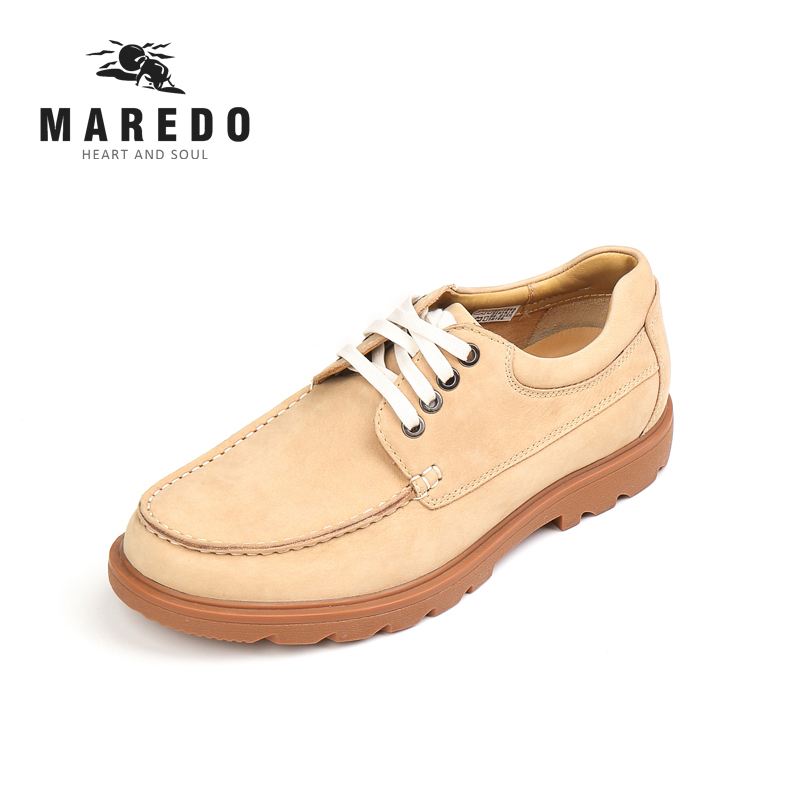MAREDO men shoes formal shoes Breathable genuine leather casual shoes social  dress shoes 2017 new spring imported leather men s shoes white eather shoes breathable sneaker fashion men casual shoes