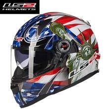 New arrival ff396 motorcgcle włókna szklanego całą twarz kask LS2 z wewnętrzna osłoną przeciwsłoneczną L XL XXL ROZMIAR man woman wyścigi moto kaski