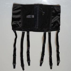Image 5 - Black Satin Garter Belt Removable Wide Straps Metal Buckles/Clips Suspender Belt for Stocking Waist Trainer Sexy Lingerie S507B