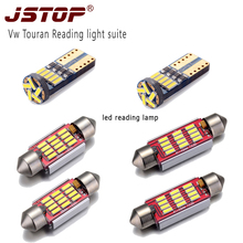 JSTOP 6piece set Vw Touran high quality led reading light canbus 12VAC bulbs w5w t10 font