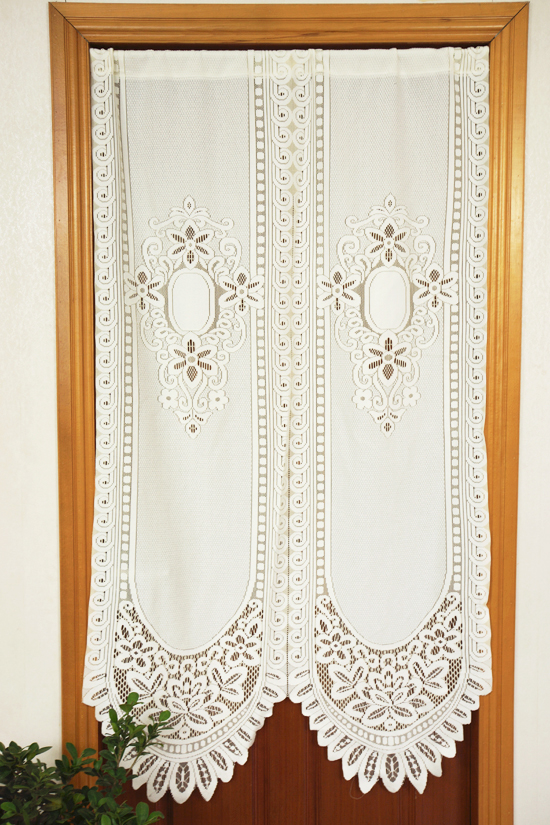 Free Shipping Lace Embroidery Geomancy Country Rustic Lucky Living Room Door Curtain Kitchen Curtains 88*150cm/90*93cm