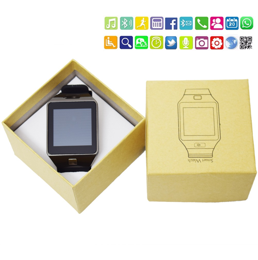DHL 10pcs/lot DZ09 smartwatch for Apple android phone smart watch with camera An