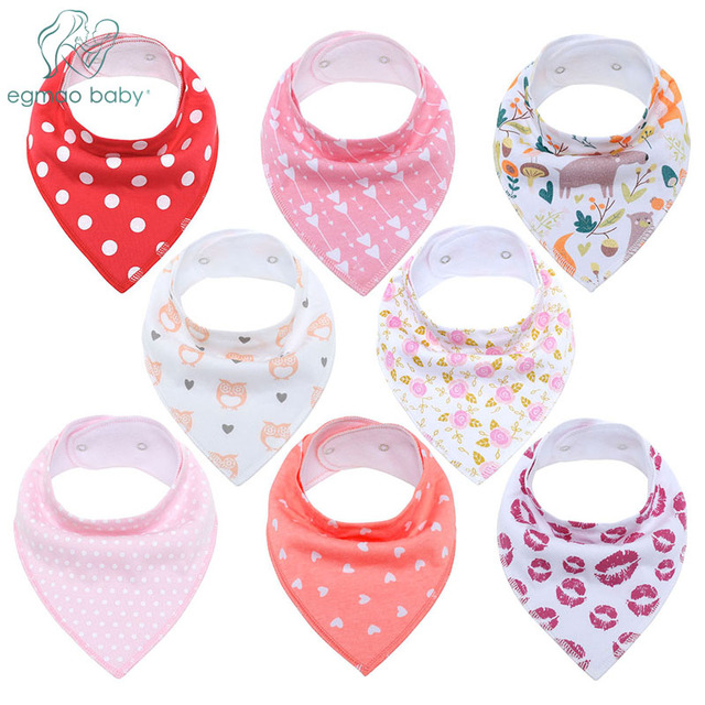 Baby Bandana Drool Bibs Unisex 8-Pack Gift Set for Drooling and Teething Organic Cotton Soft and Absorbent Hypoallergenic Bibs