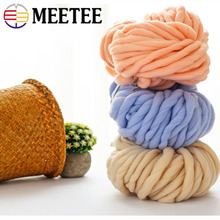 Meetee 1roll Super Thickness Chunky Yarn Wool Hand Knitting Roving Blanket Hat Scarf Soft  DIY Crafts Supplies AP534