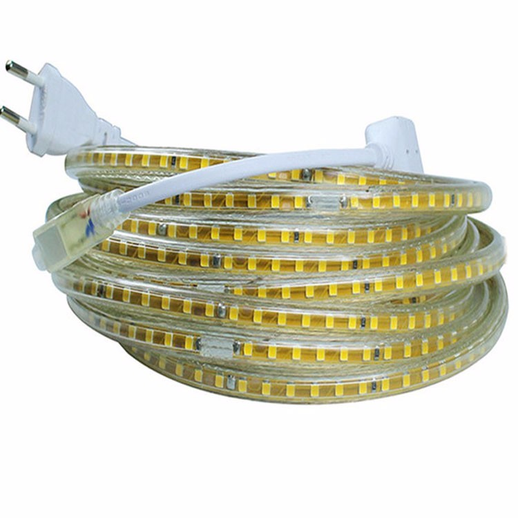 220V Led Strip SMD 2835 120Led/M White/Warm White Waterproof IP65 Led Tape Light With EU Power Plug 1M 2M 3M 4M 5M 10M 15M 20M