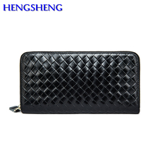 Hengsheng top quality genuine wallet for men long wallets by cow leather male wallet men handbags