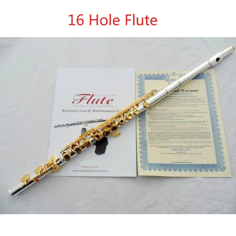Высокое качество e ключ 16 отверстия Флейта 271 S с серебряным покрытием поверхности золотой ключ покрытием Флейта Музыкальные инструменты