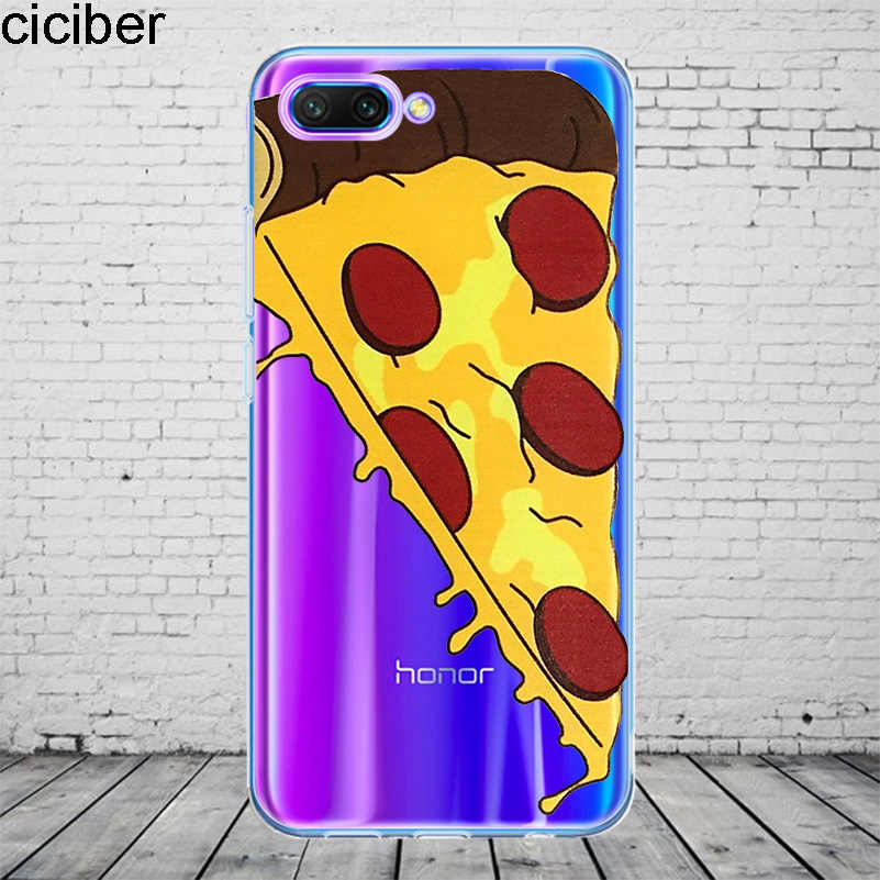 ciciber Chocolate Donuts Cover For Honor 10 9 8 Pro Lite X C Play Phone Case For Y 9 7 6 5 Prime Pro 2017 2018 2019 Coque TPU