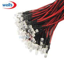 100pcs 3mm Prewired LED White Warm white Red Blue Green Yellow UV Pink 20cm Cable 12V