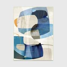 Современный скандинавский модный абстрактный геометрический принт дверь/кухня/коврик для ног гостиная спальня прикроватная зона ковер Декоративный синий