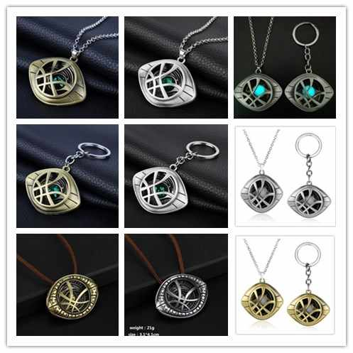 Marvel Comics Movie Avengers Jewelry Doctor Strange Necklaces & Pendants Vintage Dr.Strange Eye Pendant Leather Chain Choker -30